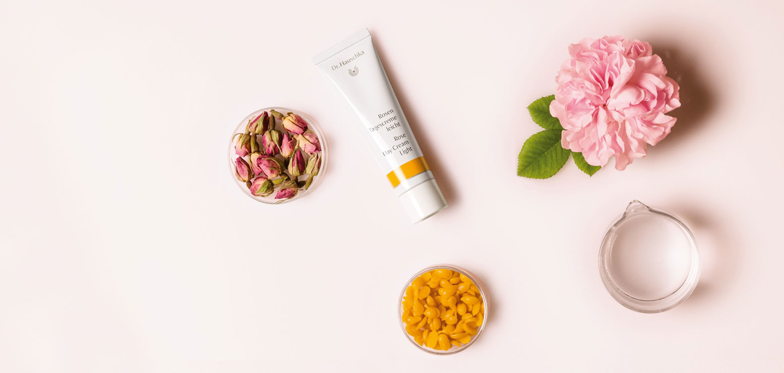 The rose is a true skin care expert. Its wondrous skin-harmonising properties are contained, for example, in our Rose Day Cream Light. Discover now
