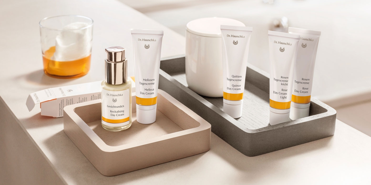Dr. Hauschka daytime skin care – natural protection as individual as your skin.  Discover your own, personal daytime skin care. With a free trial size Daily Hydrating Eye Cream for a limited period only